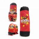 SACO BOXEO GRANDE C/GUANTES EN RED